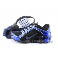 Men's Nike Shox R5 Shoes Black/Dark Blue Discount