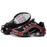 Men's Nike Shox R5 Shoes Black/Dark Red Top Deals