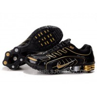 Men's Nike Shox R5 Shoes Black/Gold For Sale