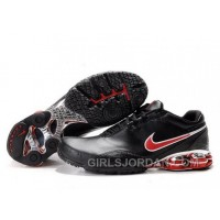 Men's Nike Shox R5 Shoes Black/Red Discount 344383
