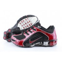 Men's Nike Shox R5 Shoes White/Dark Red New Release