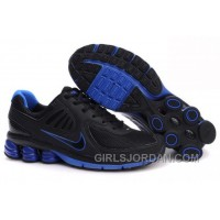 Men's Nike Shox R6 Shoes Black/Dark Blue Top Deals