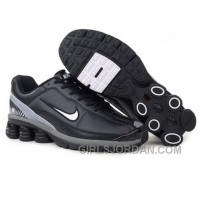 Men's Nike Shox R6 Shoes Black/Grey/White Super Deals