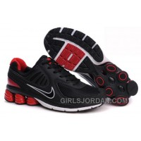 Men's Nike Shox R6 Shoes Black/Red/White New Release
