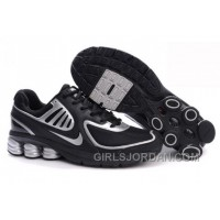 Men's Nike Shox R6 Shoes Black/Silver New Release