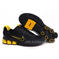 Men's Nike Shox R6 Shoes Black/Yellow Cheap To Buy