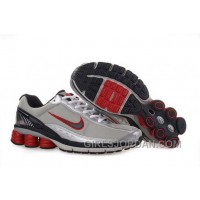 Men's Nike Shox R6 Shoes Grey/Silver/Black/Red Cheap To Buy