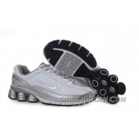 Men's Nike Shox R6 Shoes White/Grey/Silver Authentic
