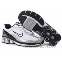 Men's Nike Shox R6 Shoes White/Silver/Black/Grey For Sale