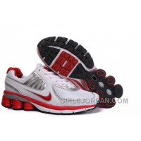 Women's Nike Shox R6 Shoes White/Red/Silver Authentic
