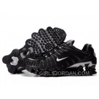 Men's Nike Shox TL Shoes Black/Silver Authentic