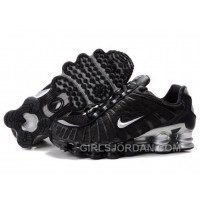 Men's Nike Shox TL Shoes Black/White/Silver Online