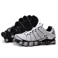 Men's Nike Shox TL Shoes White/Black/Grey Cheap To Buy