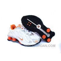 Kid's Nike Shox Torch Shoes White/Grey/Orange Lastest