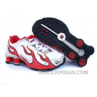 Kid's Nike Shox Torch Shoes White/Gym Red/Grey Online