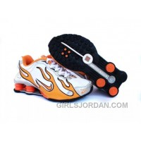 Kid's Nike Shox Torch Shoes White/Orange/Grey Lastest