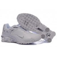 Men's Nike Shox Torch Shoes White/Brilliant Silver Authentic