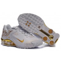 Men's Nike Shox Torch Shoes White/Gold/Brilliant Gold New Release