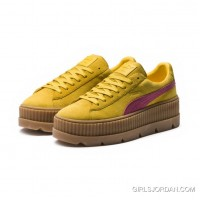 FENTY SUEDE CLEATED CREEPER WOMENS PUMA Lemon-Carmine Rose-Vanilla Ice New Release