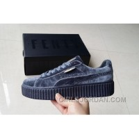 Puma By Rihanna Suede Creepers Grey New Release Discount