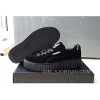 Puma By Rihanna Suede Creepers Black New Release Online