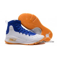 Under Armour Curry 4 Basketball Shoes Blue White Orange New Release