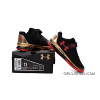 Under Armour Kids Black Red Shoes For Sale