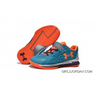 Under Armour Kids Blue Orange Shoes Lastest