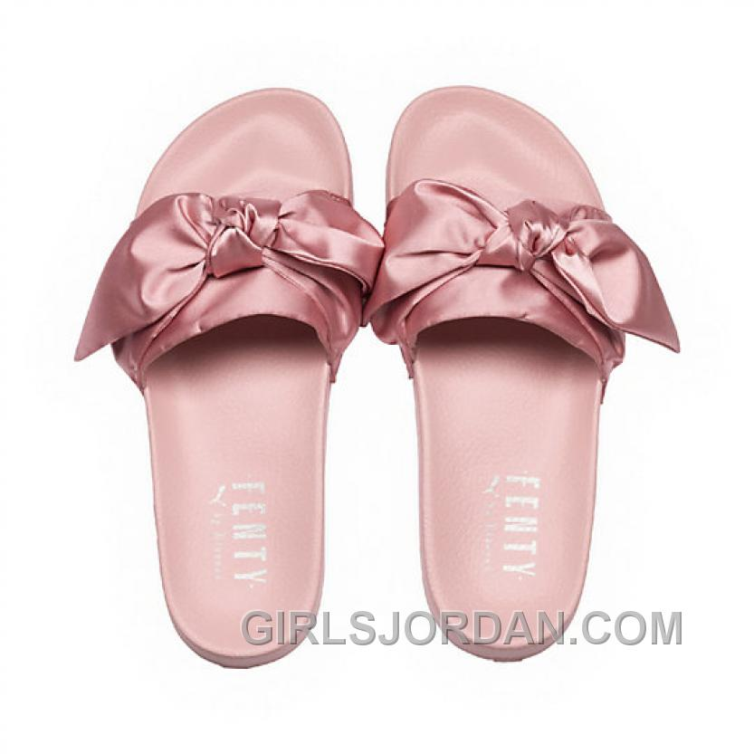 Puma X Fenty Bow Slide Silver Pink-Puma Silver Women Sandals Number 365774-03 New Style