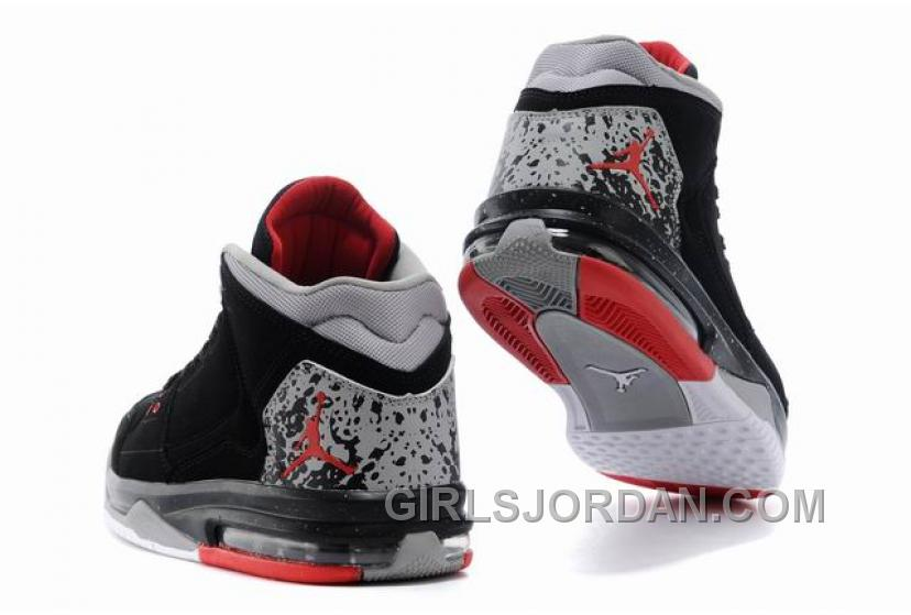 Mens Jordan Flight Origin Black/Fire Red-Cement Grey For Sale Free Shipping