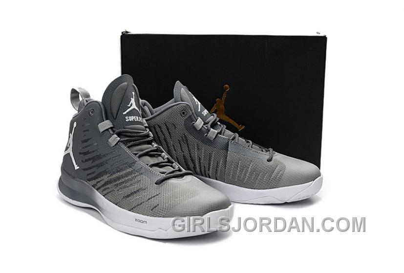 Mens Jordan Super.Fly 5 Cool Grey/Wolf Grey/White For Sale Online