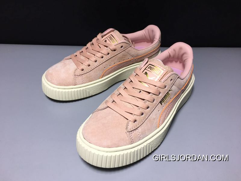 Puma X Rihanna THE CREEPER Pink/White Women Sneaker 363663-09 New Style