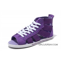 123257dc1720 All Star CONVERSE Purple Open Toe Gore Summer Women Roman Sandals Best