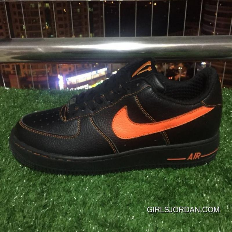 sports shoes c2429 bf373 Nike Af1 Vlone Air Force 1 Black Orange Chen One Limited Aa5360-001 Discount