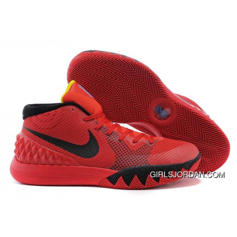 "9dc5808ab078b Nike Kyrie 1 ""Deceptive Red"" Bright Crimson Black-University Red ..."