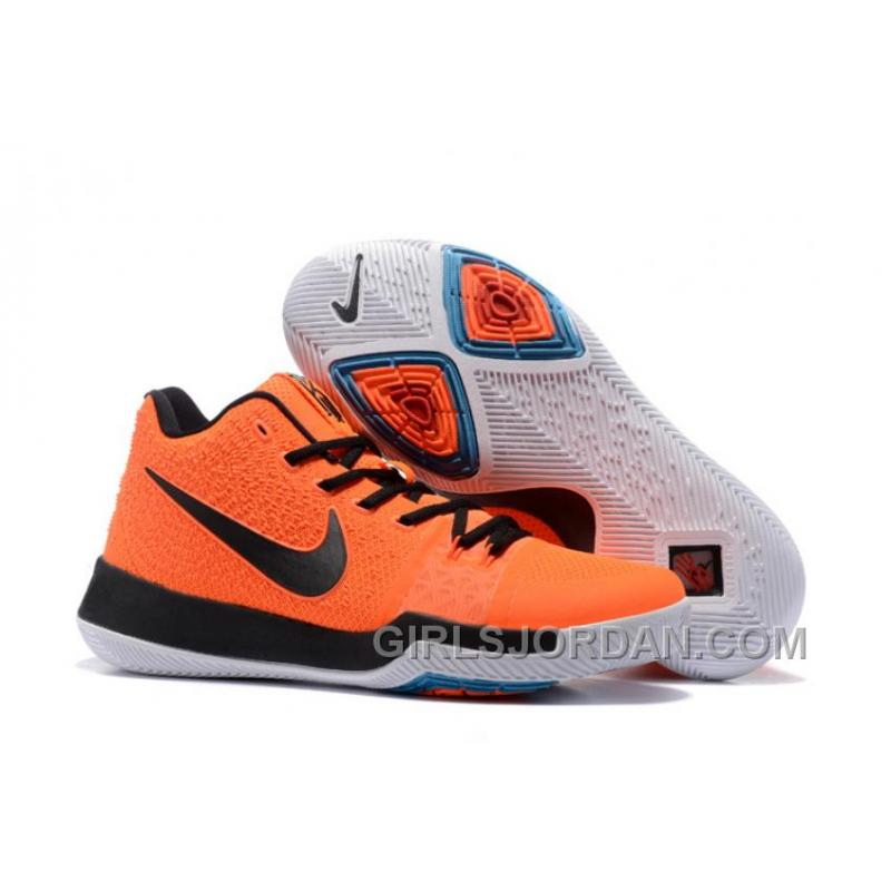 db224fb1176 USD  95.00  247.00. Nike Kyrie 3 Mens BasketBall Shoes Orange Black Discount  SWEEEFS ...