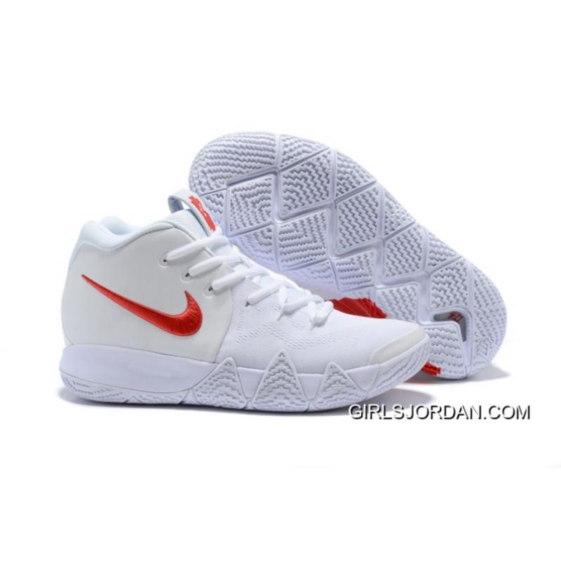 """timeless design ee6d6 26a40 Big Discount Nike Kyrie 4 """"Half Heart"""" White Red"""