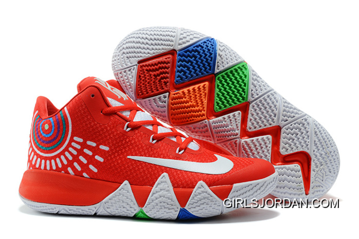 the latest e6608 aa9c9 Big Discount Nike Kyrie 4 Red White